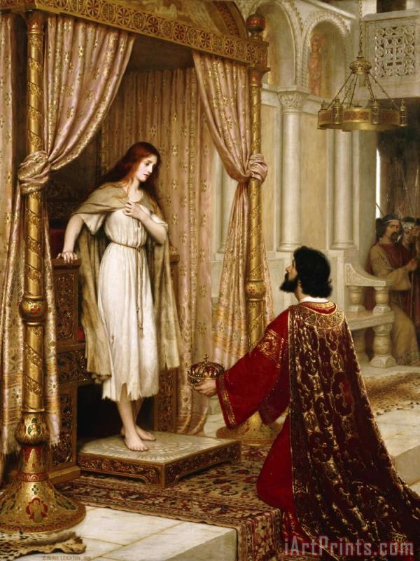 The King And The Beggar Maid painting - Edmund Blair Leighton The King And The Beggar Maid Art Print