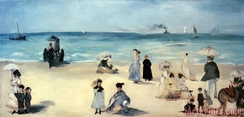 Beach Scene painting - Edouard Manet Beach Scene Art Print