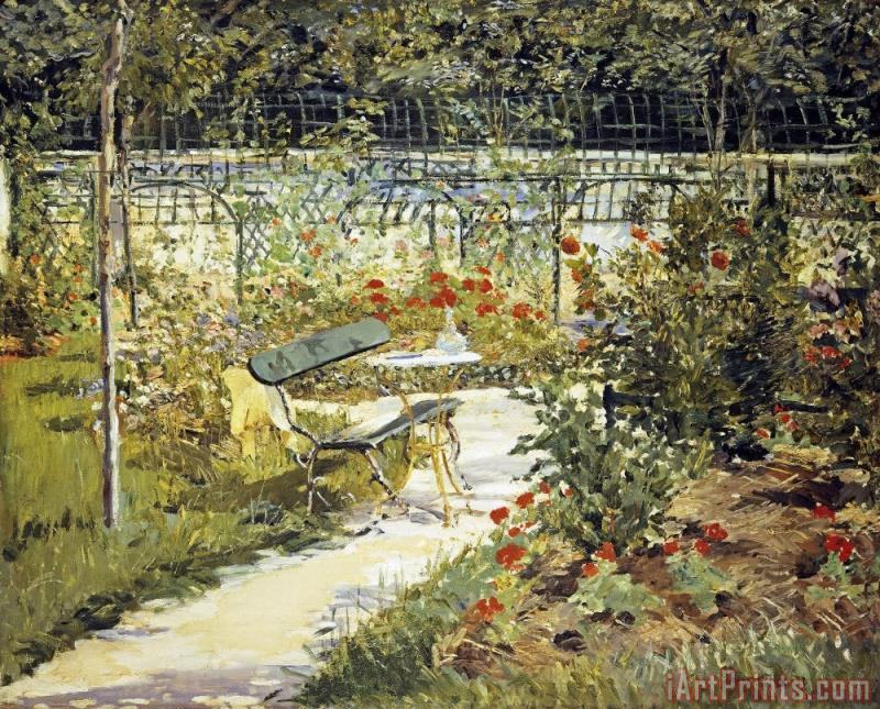 The Garden of Manet painting - Edouard Manet The Garden of Manet Art Print