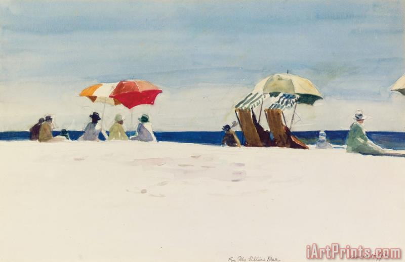Gloucester Beach painting - Edward Hopper Gloucester Beach Art Print