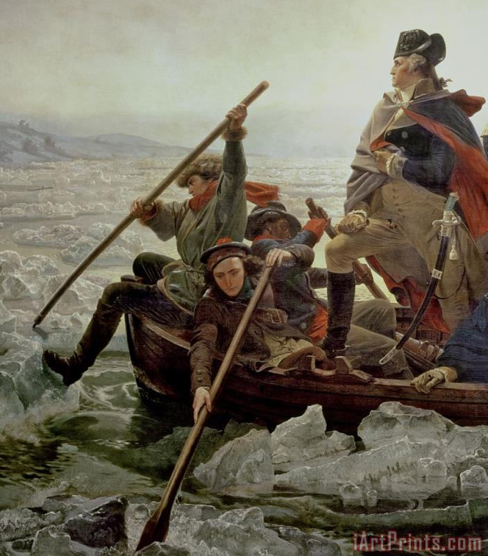 Washington Crossing the Delaware River painting - Emanuel Gottlieb Leutze Washington Crossing the Delaware River Art Print