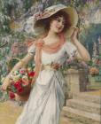 The Flower Girl by Emile Vernon