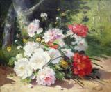 Still Life of Flowers by Eugene Henri Cauchois