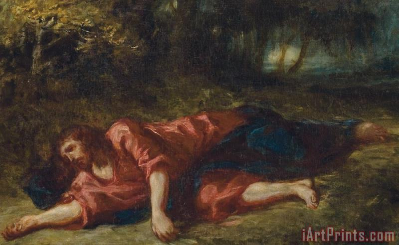 The Agony In The Garden painting - Ferdinand Victor Eugene Delacroix The Agony In The Garden Art Print