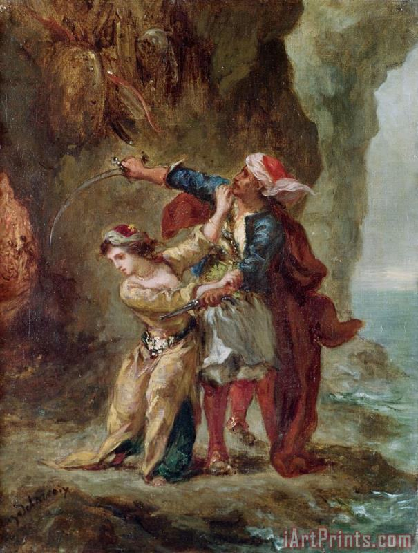 The Bride of Abydos painting - Ferdinand Victor Eugene Delacroix The Bride of Abydos Art Print
