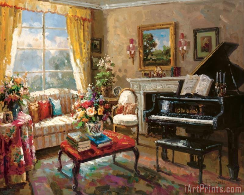 The Music Room painting - Foxwell The Music Room Art Print