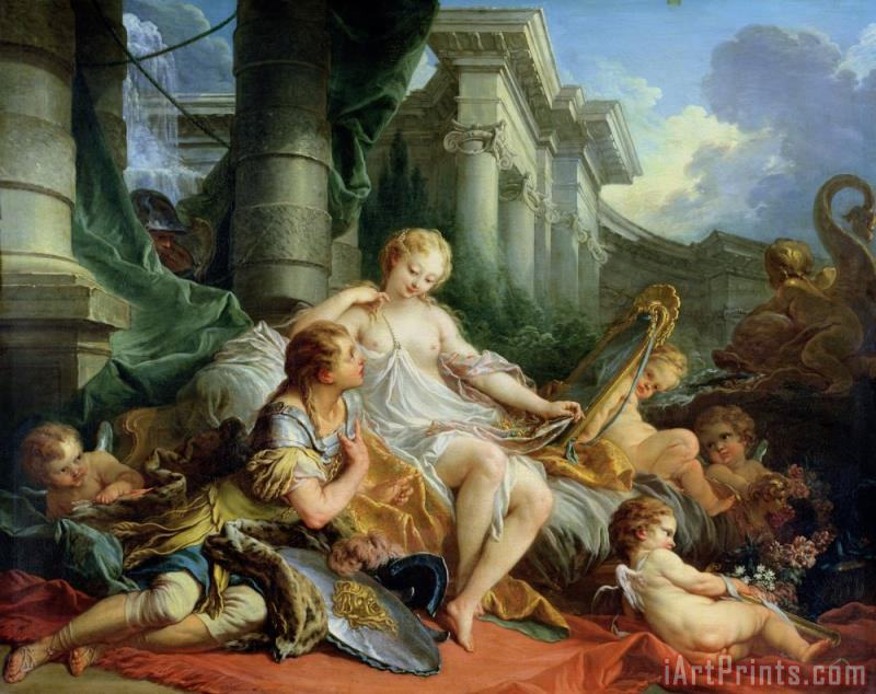 Francois Boucher Rinaldo and Armida Art Print