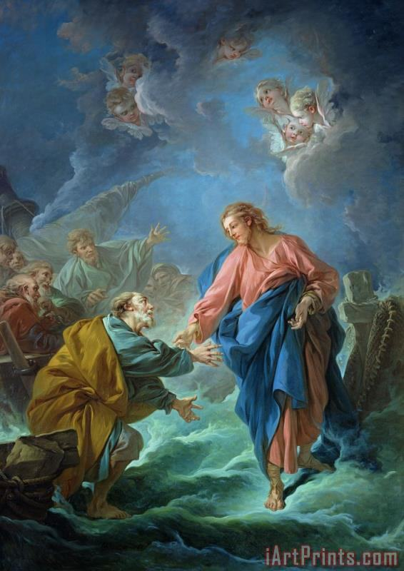 Saint Peter Invited to Walk on the Water painting - Francois Boucher Saint Peter Invited to Walk on the Water Art Print