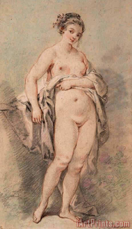 Standing Nude Girl painting - Francois Boucher Standing Nude Girl Art Print