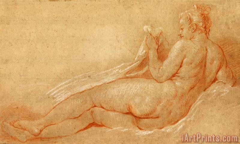 Francois Boucher Study for Reclining Nude Art Print