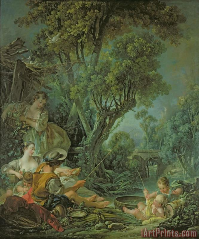 Francois Boucher The Angler Art Print