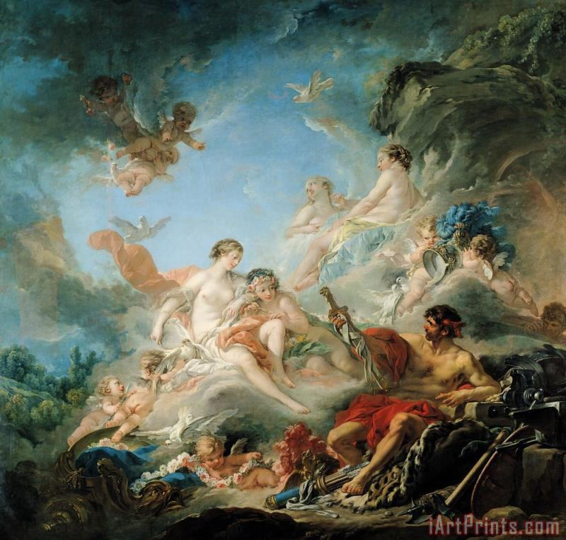 Francois Boucher The Forge of Vulcan Art Print