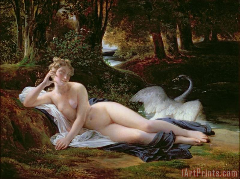 Leda and the Swan painting - Francois Edouard Picot Leda and the Swan Art Print