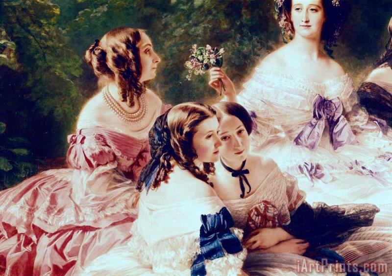 Empress Eugenie and her Ladies in Waiting painting - Franz Xaver Winterhalter Empress Eugenie and her Ladies in Waiting Art Print