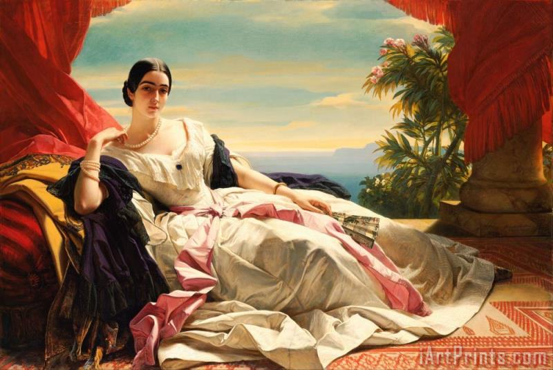 Franz Xaver Winterhalter Portrait of Leonilla, Princess of Sayn Wittgenstein Sayn Art Print