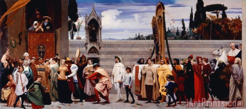Frederic Leighton Cimabue's Madonna Carried in Procession Art Print