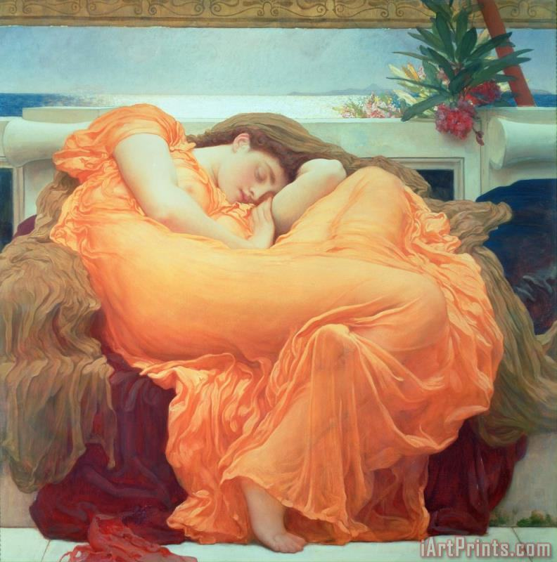Frederic Leighton Flaming June Art Print