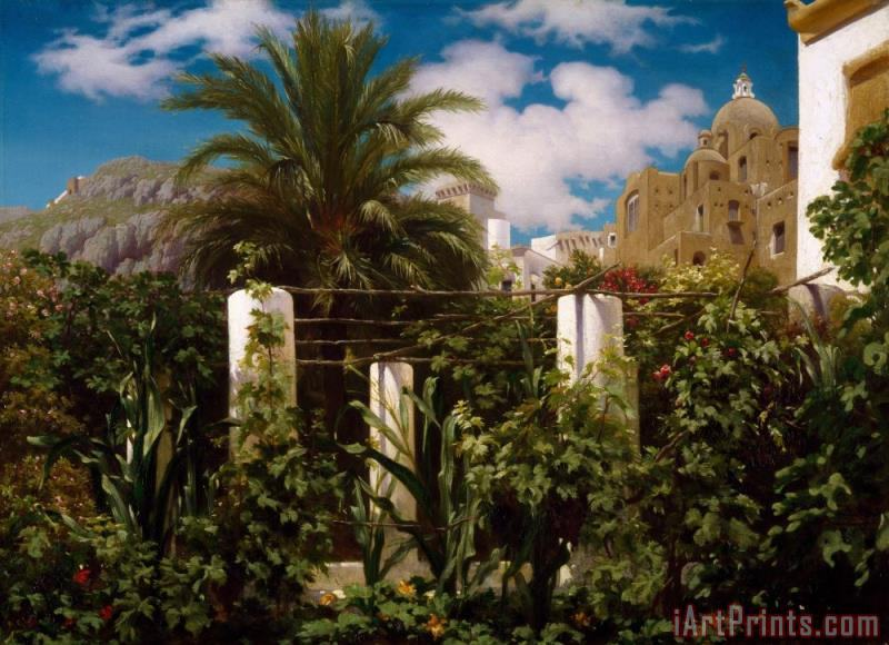 Frederic Leighton Garden of an Inn, Capri Art Print