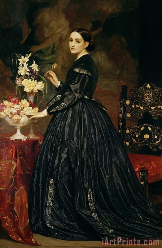 Mrs James Guthrie painting - Frederic Leighton Mrs James Guthrie Art Print