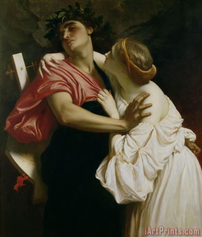 Orpheus and Euridyce painting - Frederic Leighton Orpheus and Euridyce Art Print