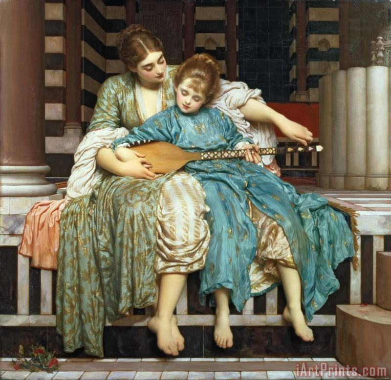 Frederic Leighton The Music Lesson Art Print