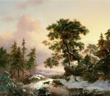 Wolves in a Winter Landscape by Frederick Marianus Kruseman