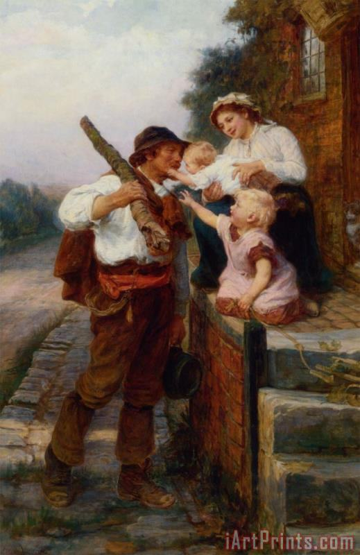 Frederick Morgan A Fathers Return Art Print