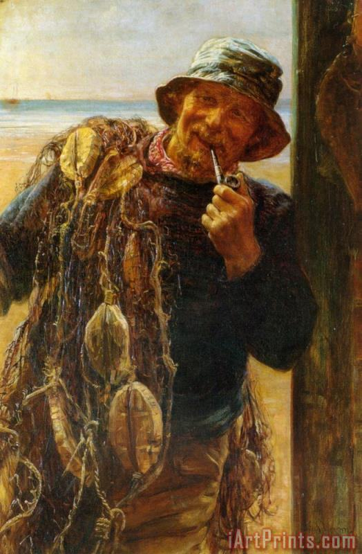 Frederick Morgan A Jovial Fisherman Art Print