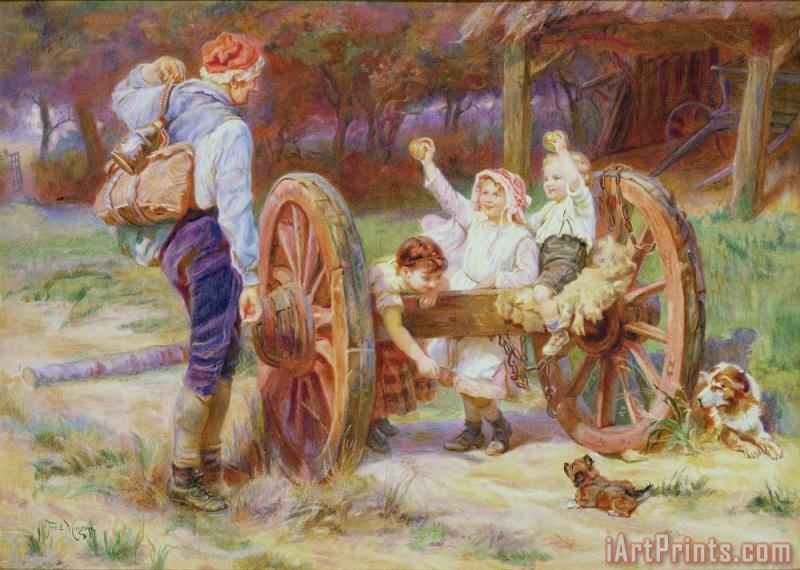 Happy as the Days are Long painting - Frederick Morgan Happy as the Days are Long Art Print