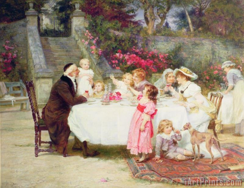 Frederick Morgan His First Birthday Art Print