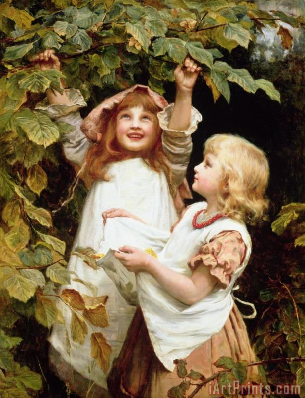Nutting painting - Frederick Morgan Nutting Art Print