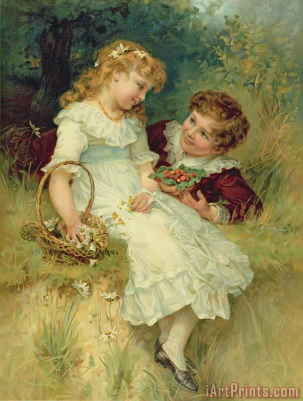 Sweethearts painting - Frederick Morgan Sweethearts Art Print