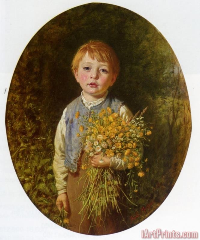 Frederick Morgan The Flower Gatherer Art Print