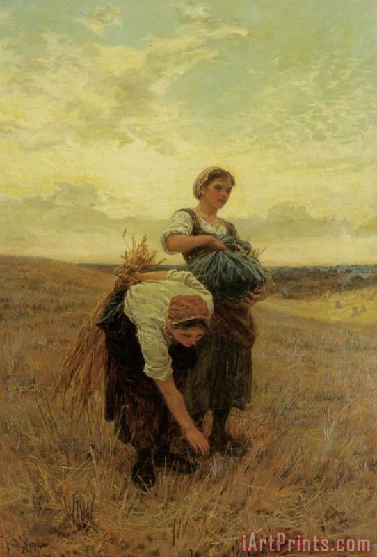 The Gleaners painting - Frederick Morgan The Gleaners Art Print