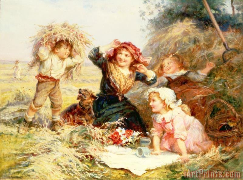The Haymakers painting - Frederick Morgan The Haymakers Art Print