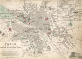 Map Of Paris At The Outbreak Of The French Revolution by French School