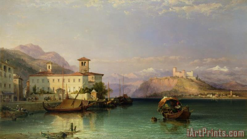 Lake Maggiore painting - George Edwards Hering Lake Maggiore Art Print