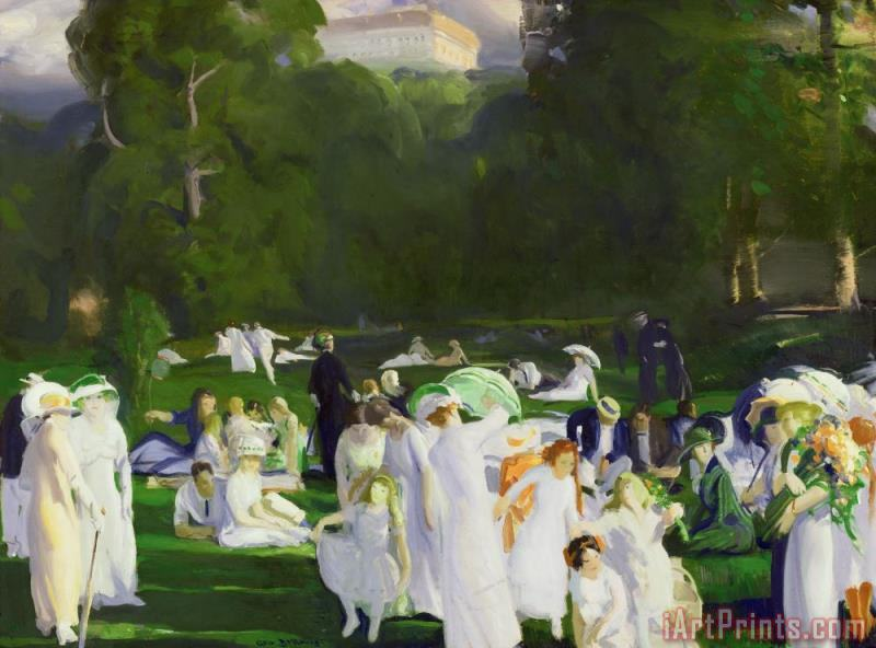A Day In June painting - George Wesley Bellows A Day In June Art Print