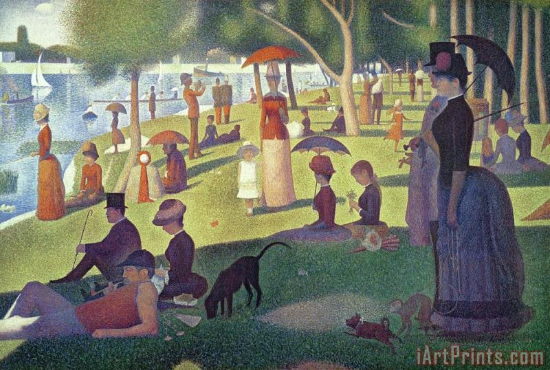 Sunday Afternoon on the Island of La Grande Jatte painting - Georges Pierre Seurat Sunday Afternoon on the Island of La Grande Jatte Art Print