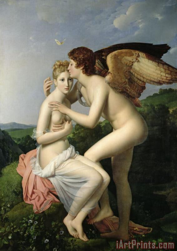 Psyche Receiving the First Kiss of Cupid painting - Gerard Psyche Receiving the First Kiss of Cupid Art Print