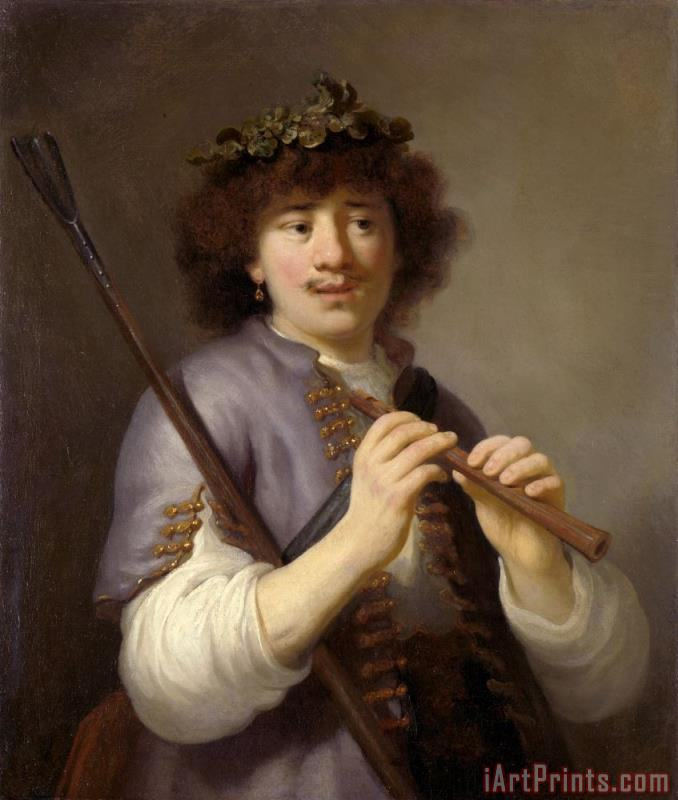 Rembrandt As Shepherd with Staff And Flute painting - Govaert Flinck Rembrandt As Shepherd with Staff And Flute Art Print