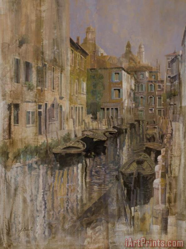 Golden Venice painting - Collection 7 Golden Venice Art Print
