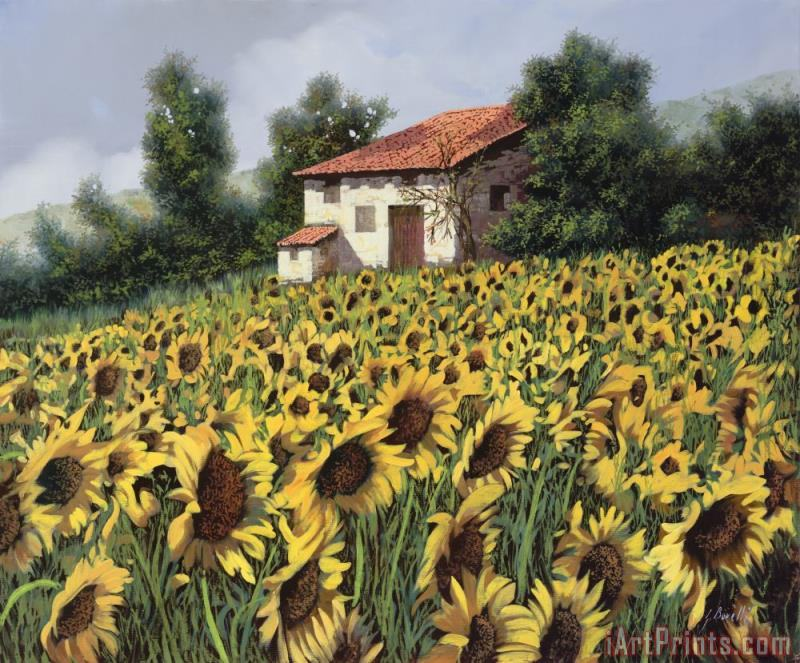 Collection 7 I Girasoli Nel Campo Art Painting