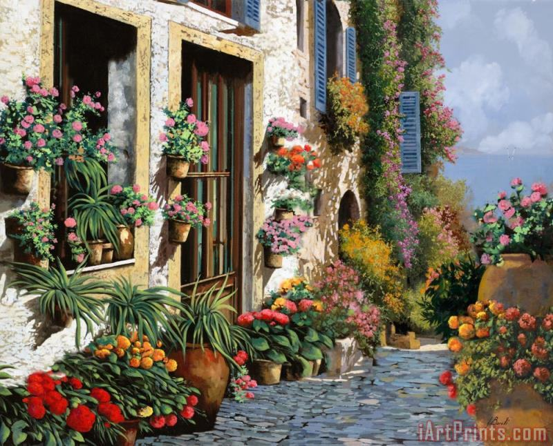 La Strada Del Lago painting - Collection 7 La Strada Del Lago Art Print