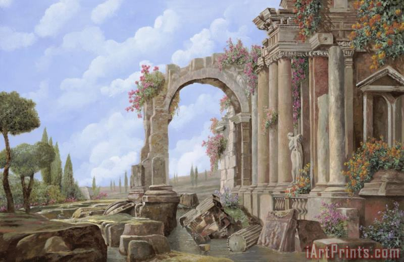 Roman ruins painting - Collection 7 Roman ruins Art Print