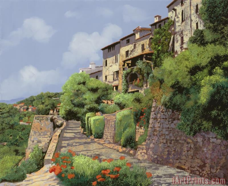 St Paul de Vence painting - Collection 7 St Paul de Vence Art Print