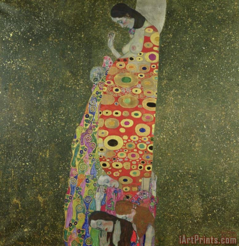 Hope II painting - Gustav Klimt Hope II Art Print
