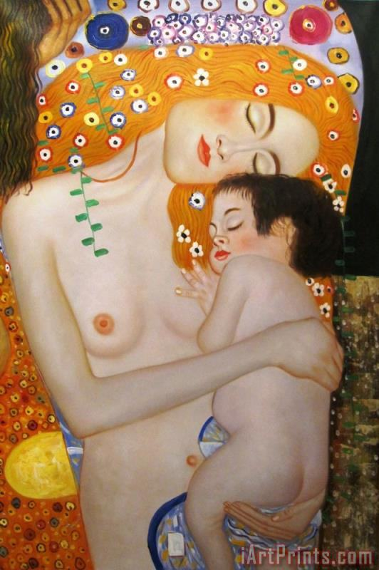 Mother And Child painting - Gustav Klimt Mother And Child Art Print
