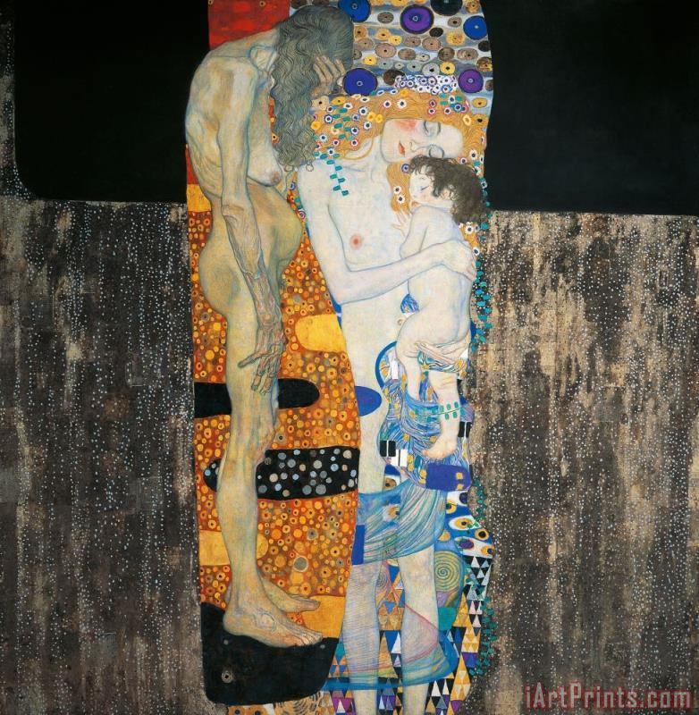 The Three Ages Of Woman painting - Gustav Klimt The Three Ages Of Woman Art Print