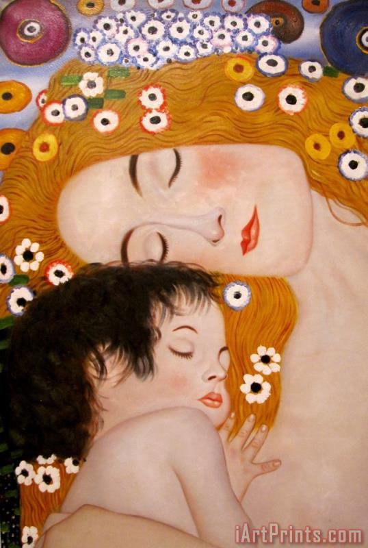 Gustav Klimt Three Ages of Woman Mother And Child (detail) Art Print